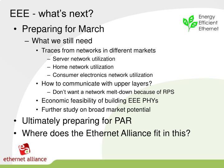 EEE - what's next?