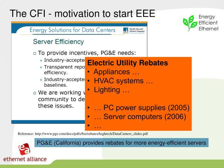 The CFI - motivation to start EEE