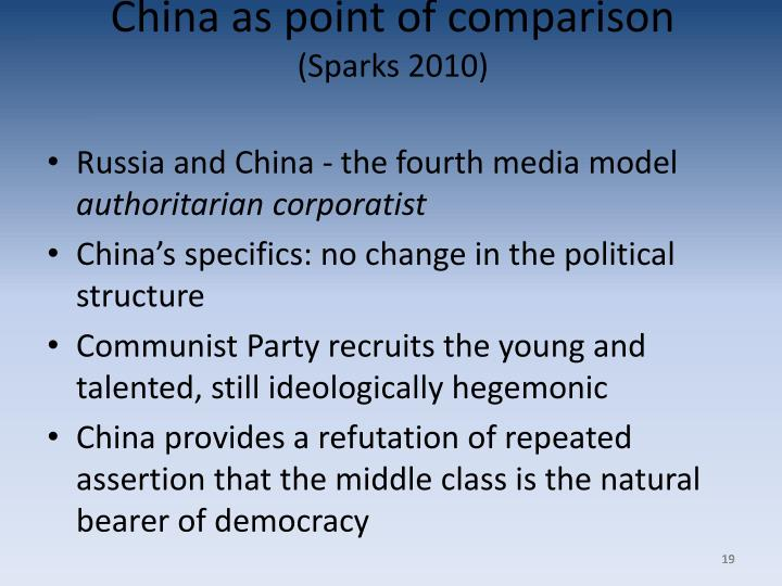 China as point of comparison