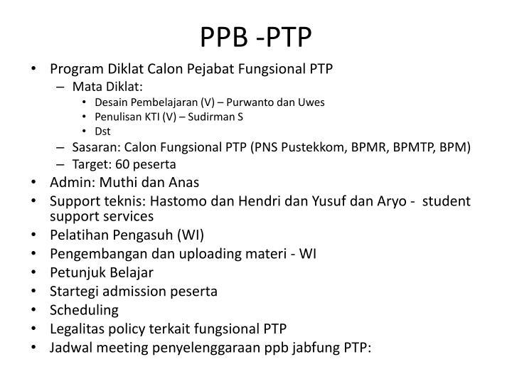 PPB -PTP