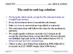 the end to end tag solution1