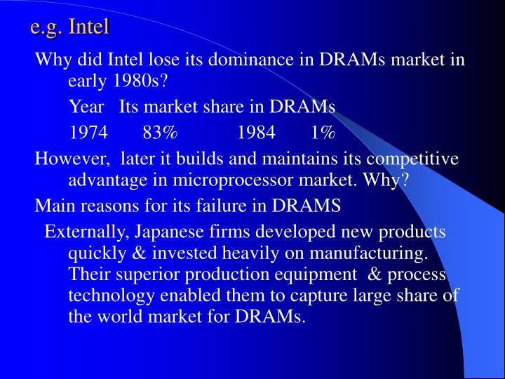 e.g. Intel