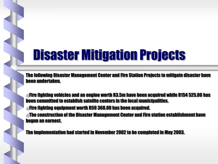 Disaster Mitigation Projects