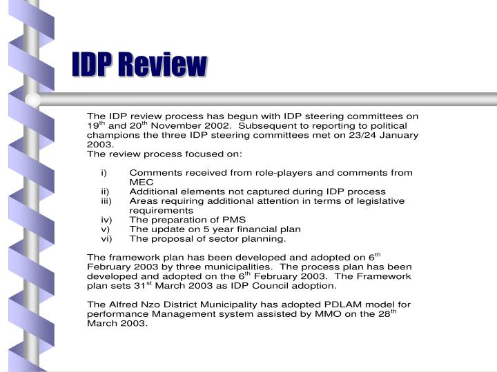 IDP Review
