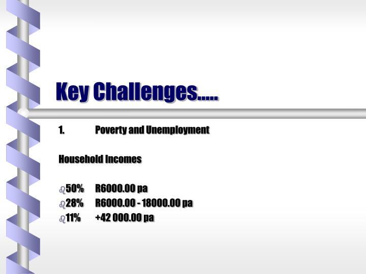 Key Challenges…..