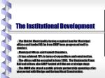 the institutional development