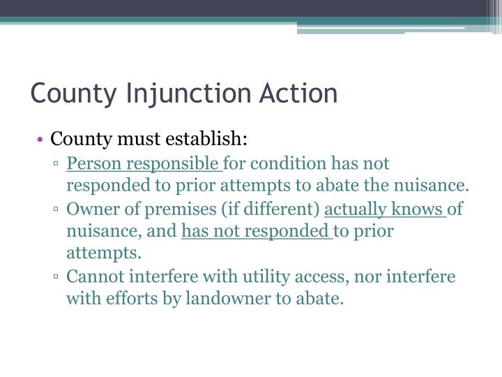 County Injunction Action