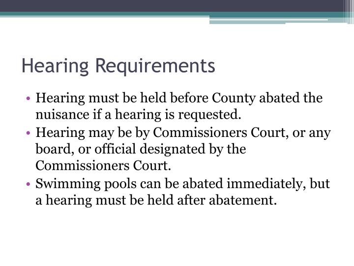 Hearing Requirements