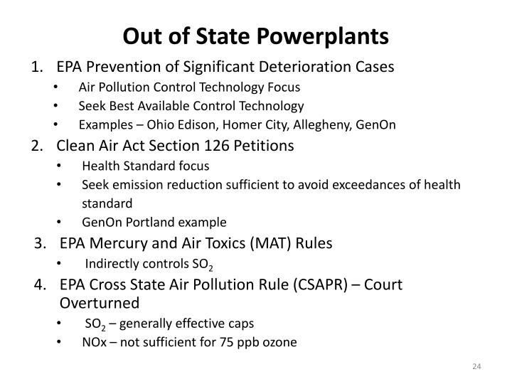 Out of State Powerplants