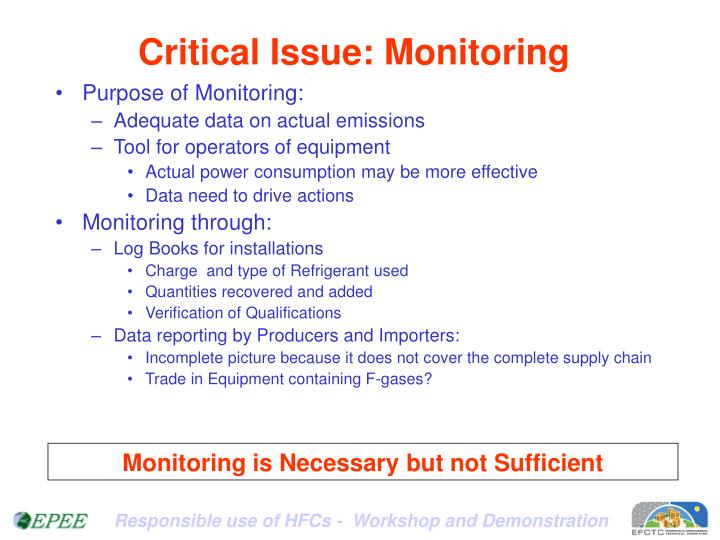 Critical Issue: Monitoring