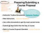 preparing submitting a course proposal