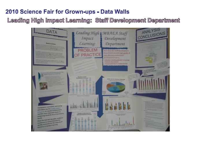 2010 Science Fair for Grown-ups - Data Walls