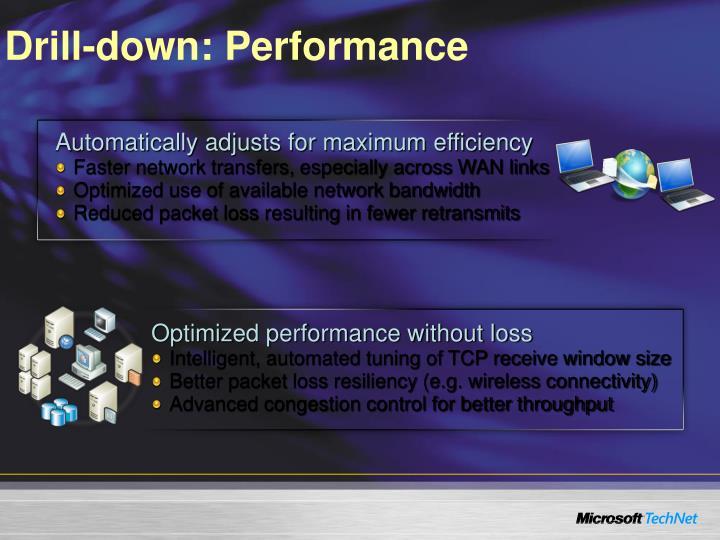 Drill-down: Performance