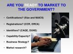 are you ready to market to the government
