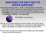 how does the navy buy its office supplies
