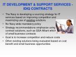 it development support services idiq contracts