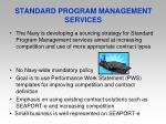 standard program management services