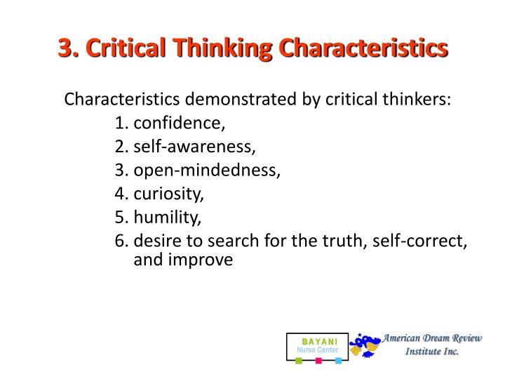 3. Critical Thinking Characteristics