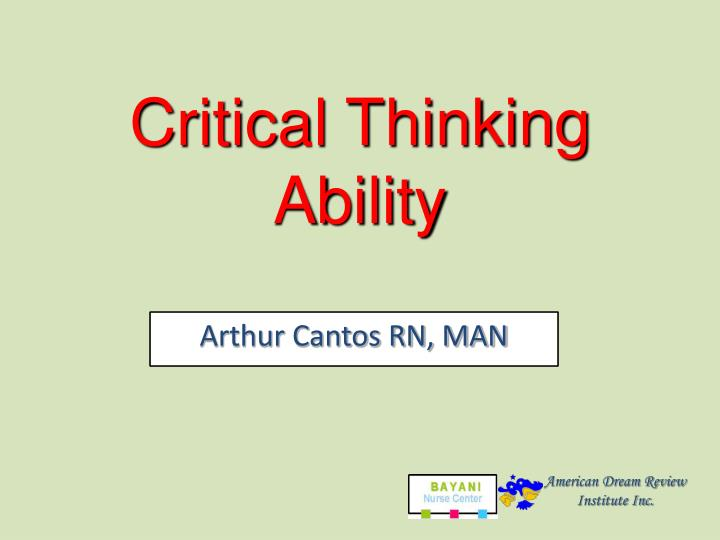 Critical Thinking Ability