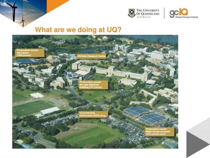 What are we doing at UQ?