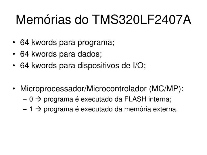 Mem rias do tms320lf2407a