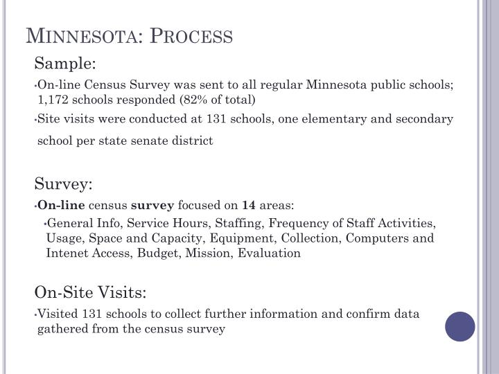 Minnesota: Process