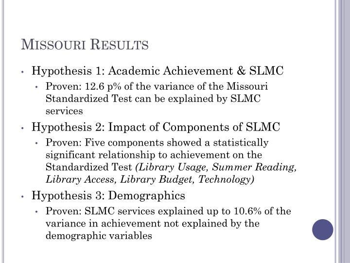 Missouri Results