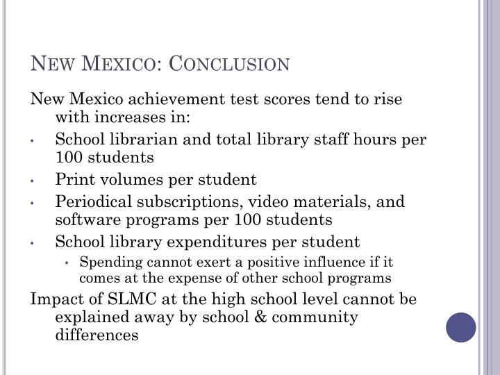 New Mexico: Conclusion