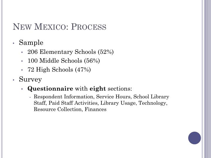 New Mexico: Process
