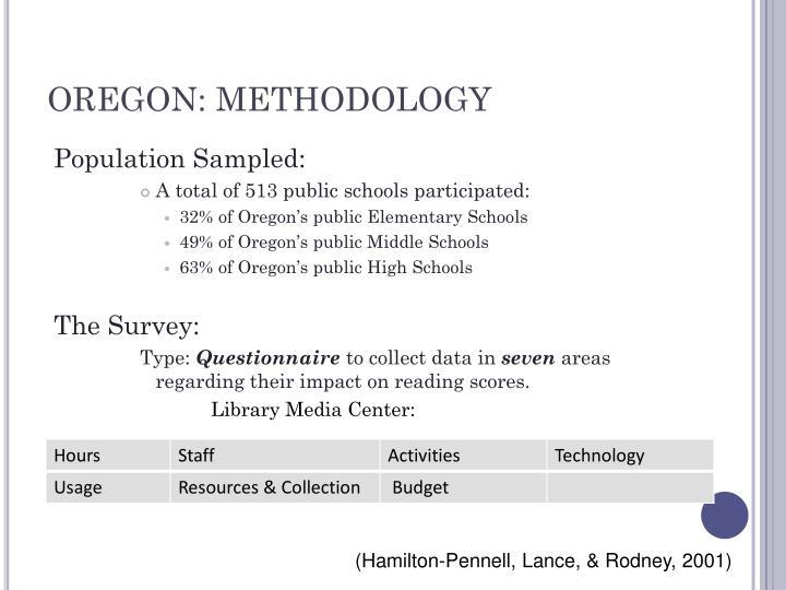 OREGON: METHODOLOGY