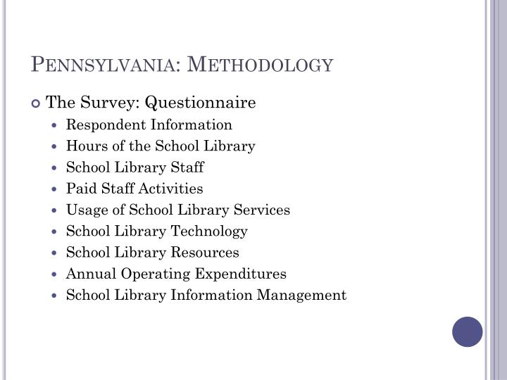 Pennsylvania: Methodology