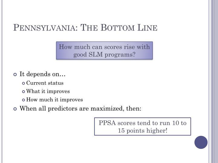 Pennsylvania: The Bottom Line