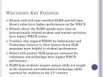 wisconsin key findings