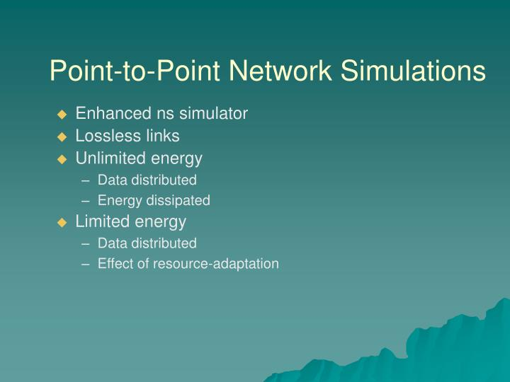 Point-to-Point Network Simulations