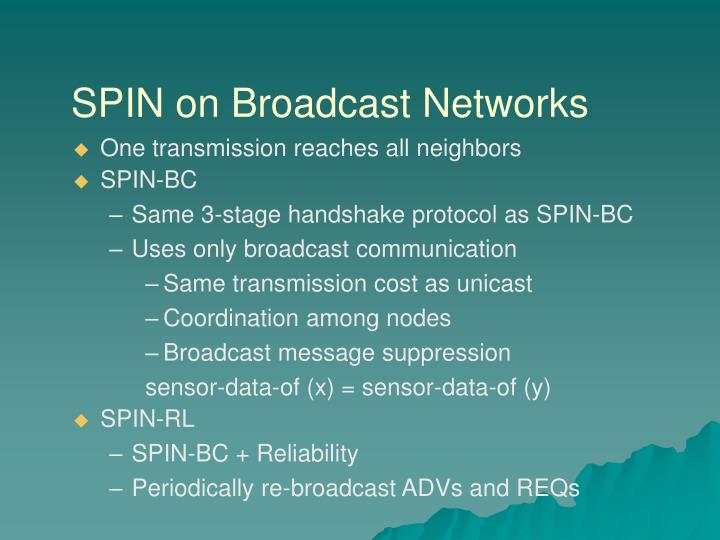 SPIN on Broadcast Networks