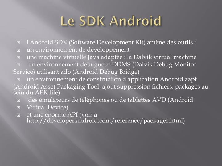 Le SDK