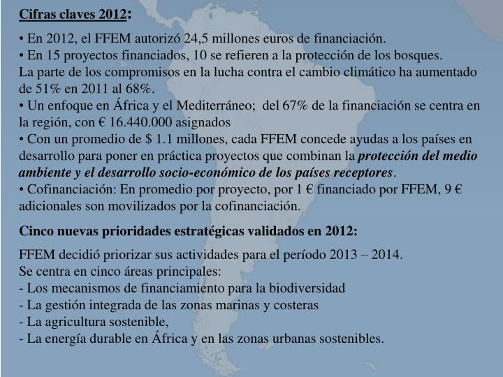 Cifras claves 2012
