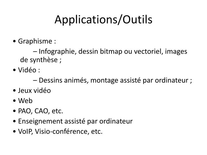 Applications/Outils