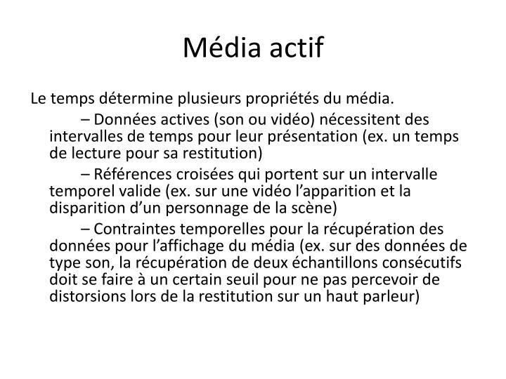 Média actif