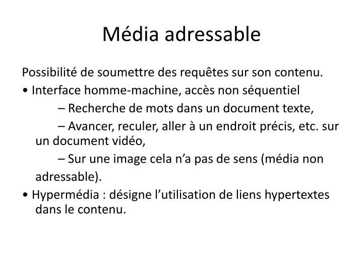 Média adressable