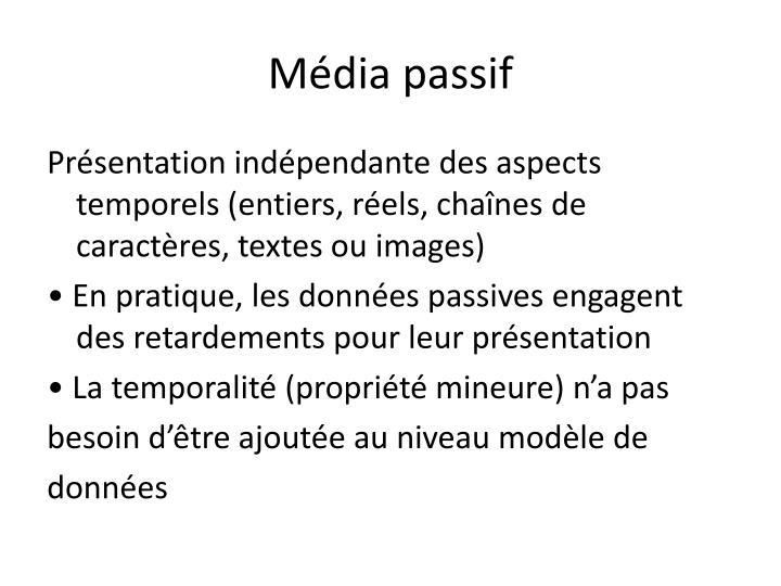 Média passif