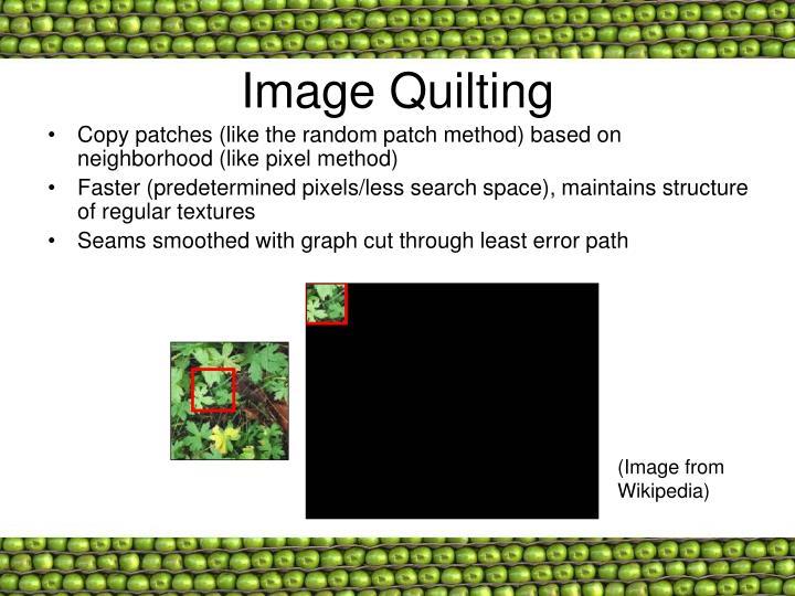 Image Quilting