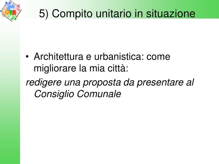 5) Compito unitario in situazione