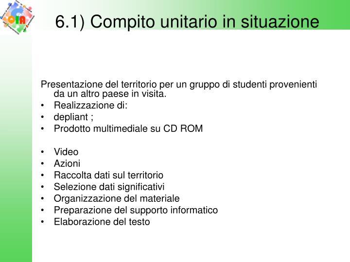 6.1) Compito unitario in situazione