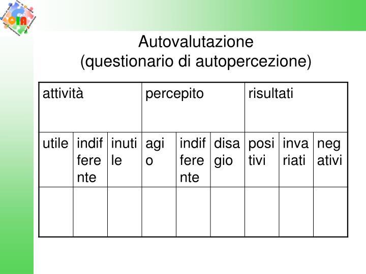 Autovalutazione