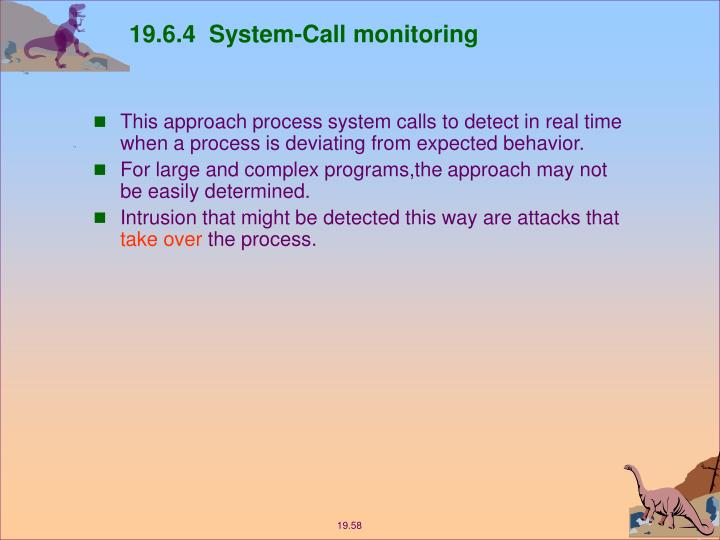 19.6.4  System-Call monitoring