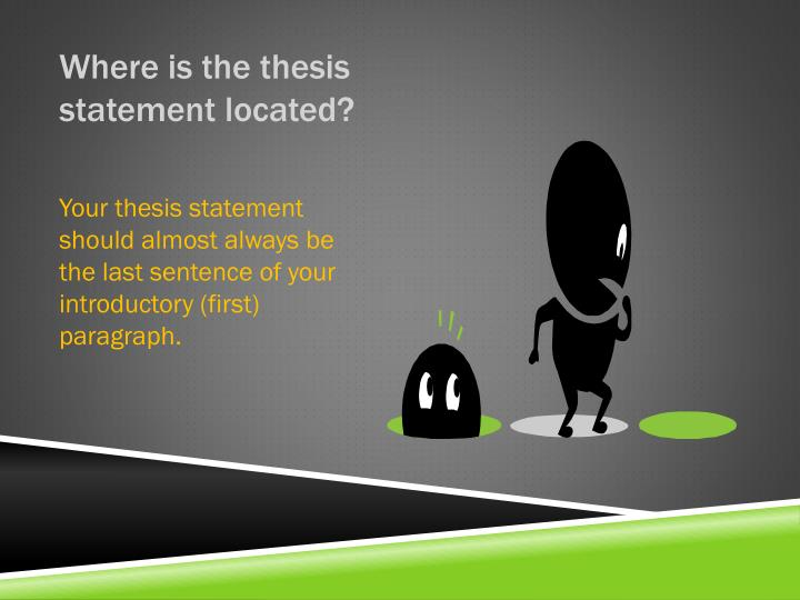 Where is the thesis statement located?