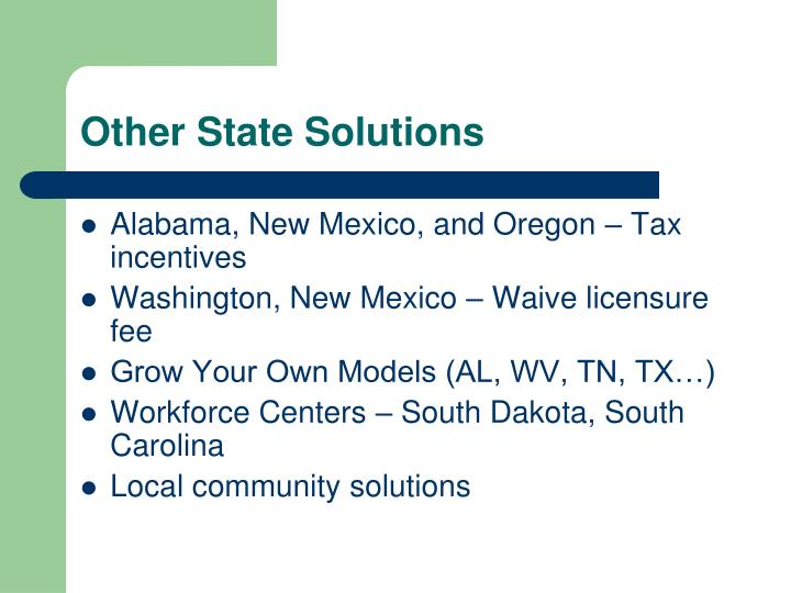 Other State Solutions