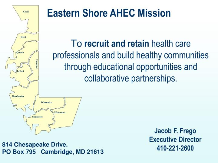 Eastern Shore AHEC Mission