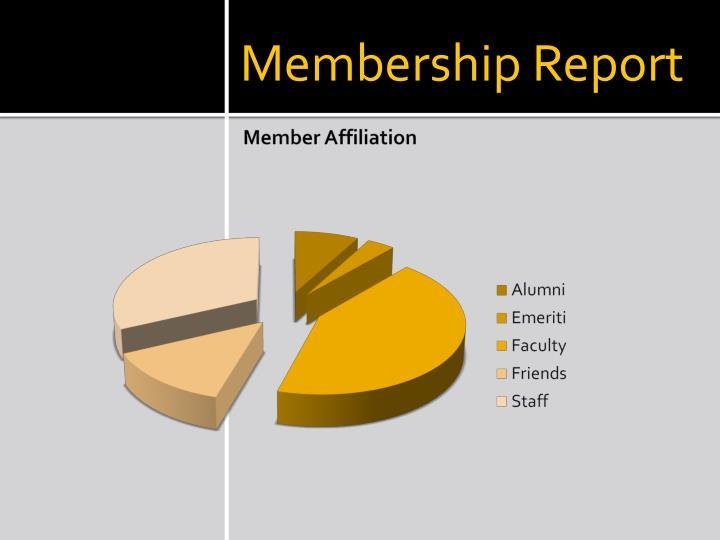 Membership Report
